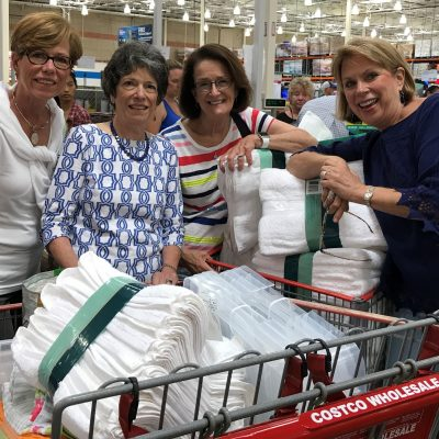 The Outreach Committee purchased items to help with Hurricane Harvey recovery efforts in 2017.