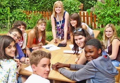 Students at summer camp