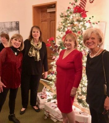 Assistance League Member with Christmas Tree