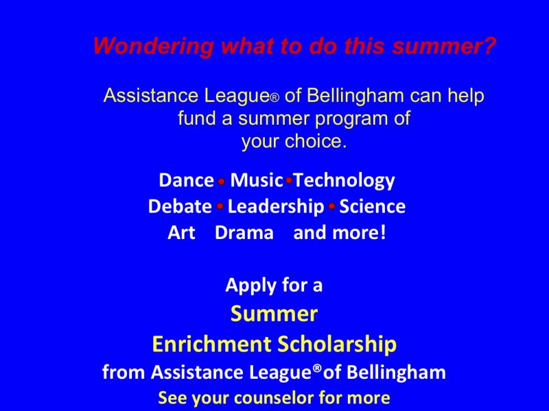 Enrichment Scholarship Applications available on our website