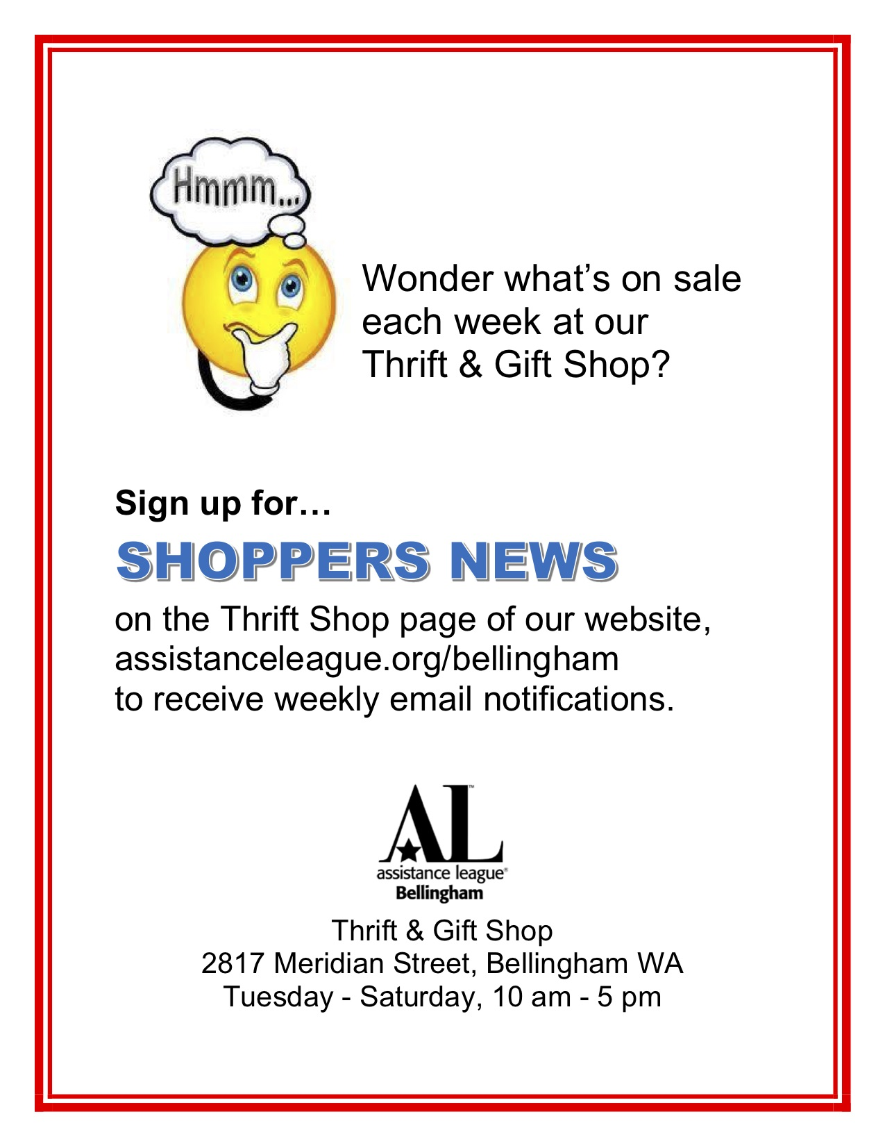 Sign up for Shoppers News email subscription