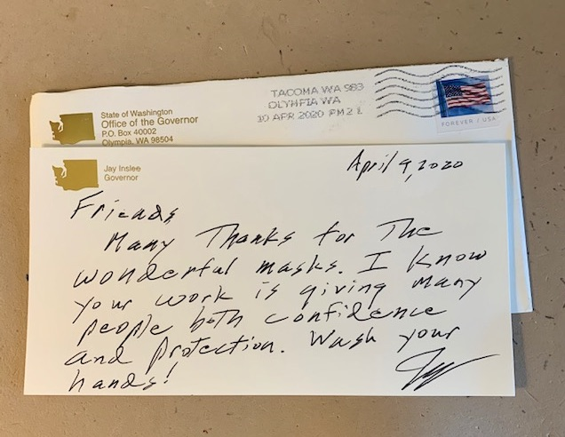 Note from Governor Inslee