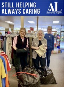 ALB members gathering clothing to donated to Lighthouse Mission