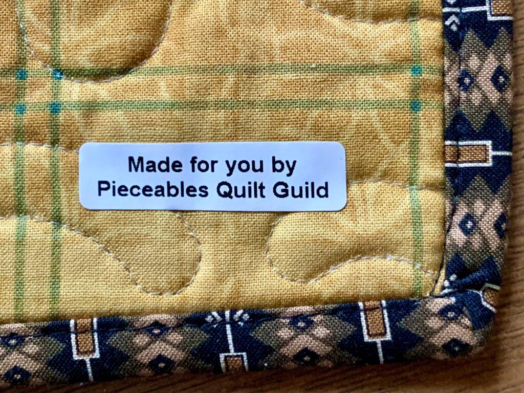 Pieceable Quilters label