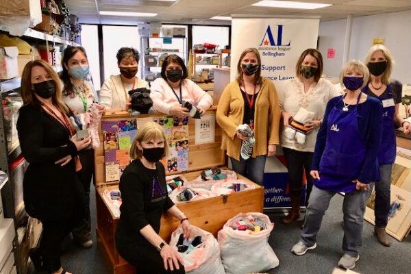 Whatcom County School Coordinators Collect Socks for students