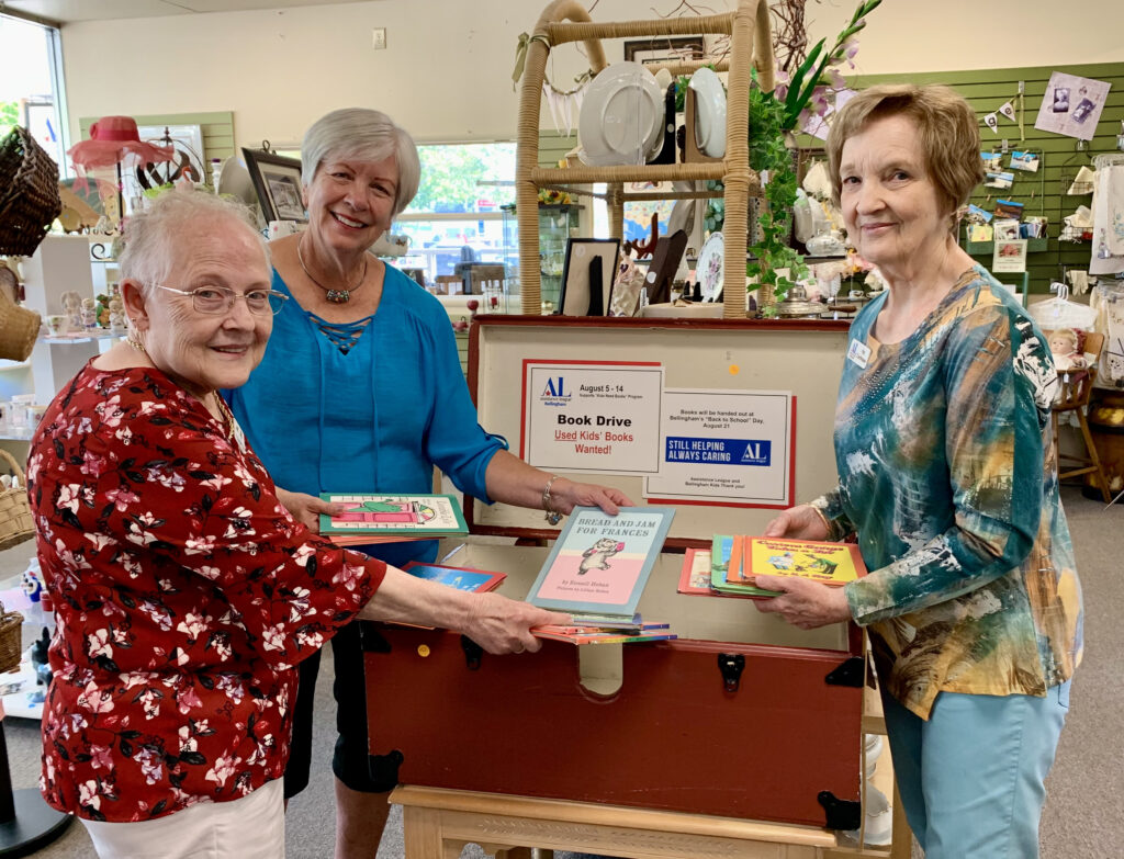 Assistance League Members getting ready for Kids Book Drive