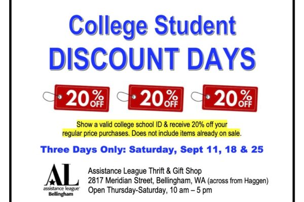College Student Discount Days