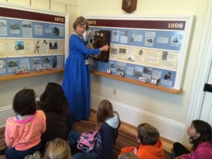 The History room has old telephone and telegraph equipment