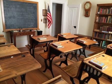 Students enjoy a 19th century schoolroom