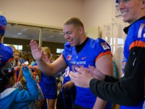 Boise State Athletes visit to play with the students