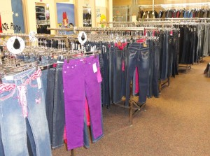 Thousands of jeans for students of all sizes