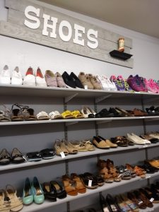 Shoes department in Thrift Shop