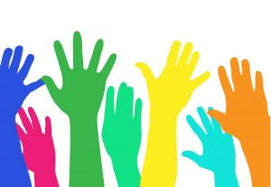 raised hands clip art