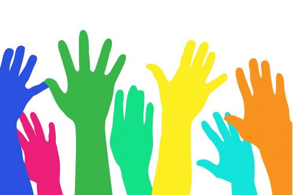 raised hands clip art
