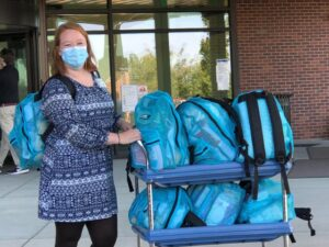 Hospital staff receiving Baby Bundles