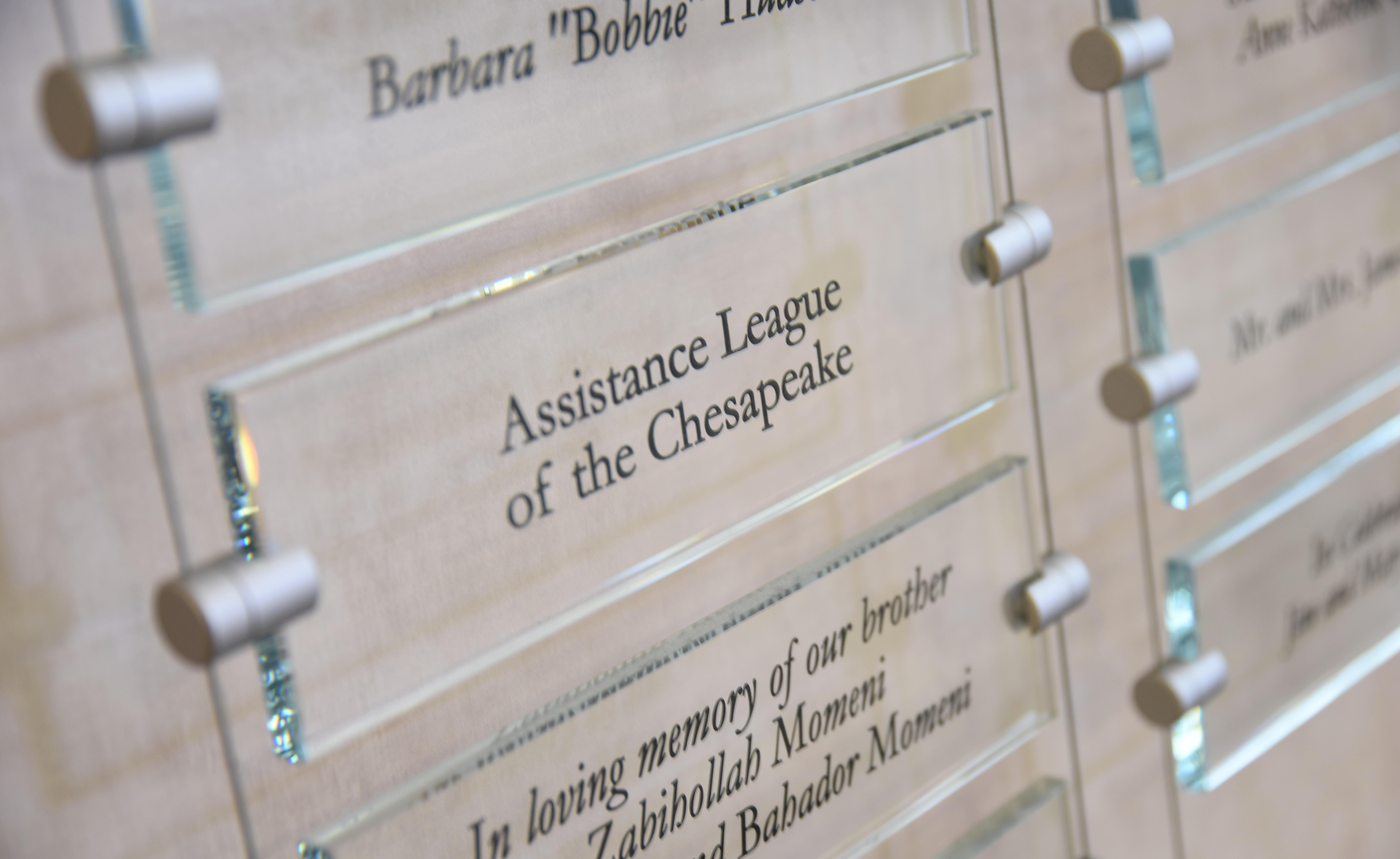 AL Chesapeake plaque at BWMC