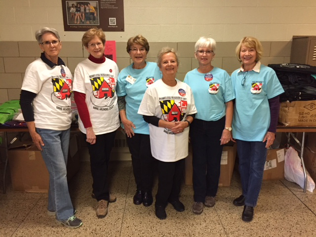 Assistance League of the Chesapeake members help at Homeless Resource Day