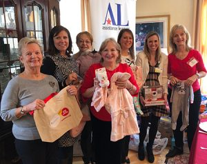 Assistance League of the Chesapeake members at the annual Stork's Nest Baby Shower.