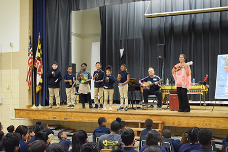 Cantare performs for local elementary schools, hosted by Assistance League of the Chesapeake.