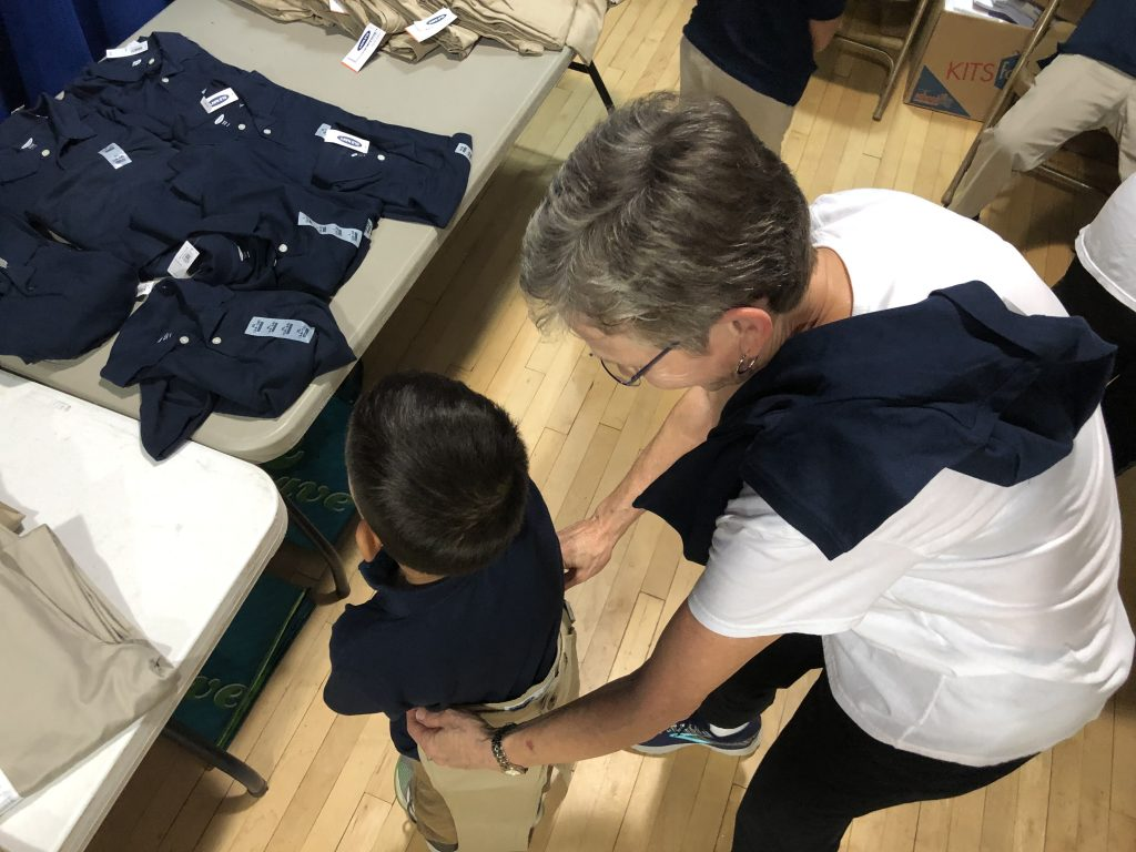 Uniform measuring, Assistance League of the Chesapeake
