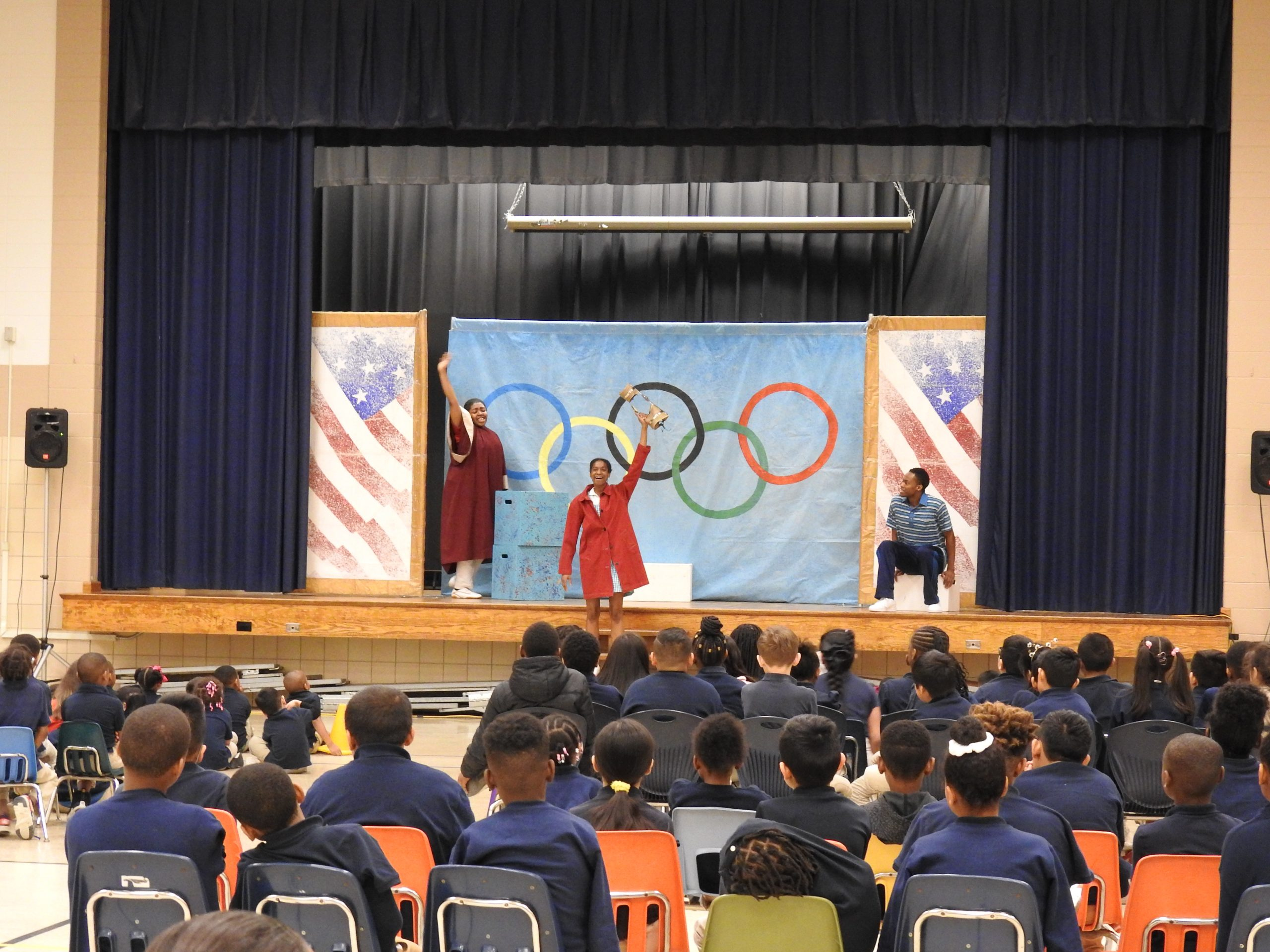 """Going the Distance"" performance at Georgetown East Elementary School"