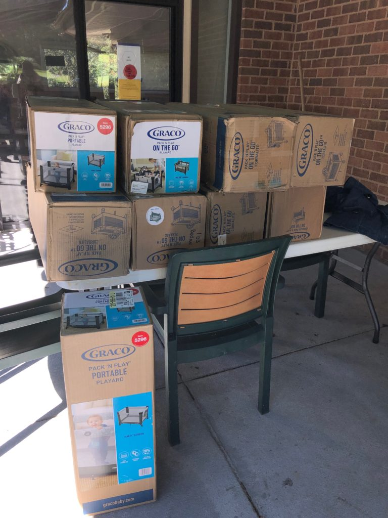 Donations to the Stork's Nest Baby Shower