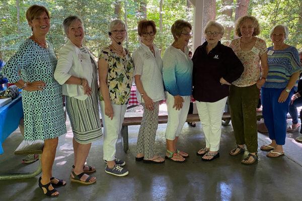 Assistance League of the Chesapeake 2021-22 officers: Teresa Tudor, Nell Till, Elaine Atkinson, Gilda Sebold, Cindy Culp, Linda Wood, Jodee Hechler and Ellen Kalas. Not shown: Debbie Connors