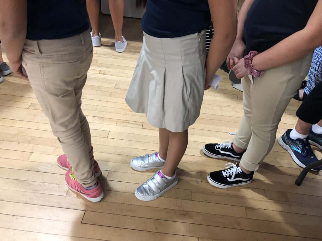 Uniforms on students at school