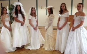 Modeling bridal gowns for Thrift Shop