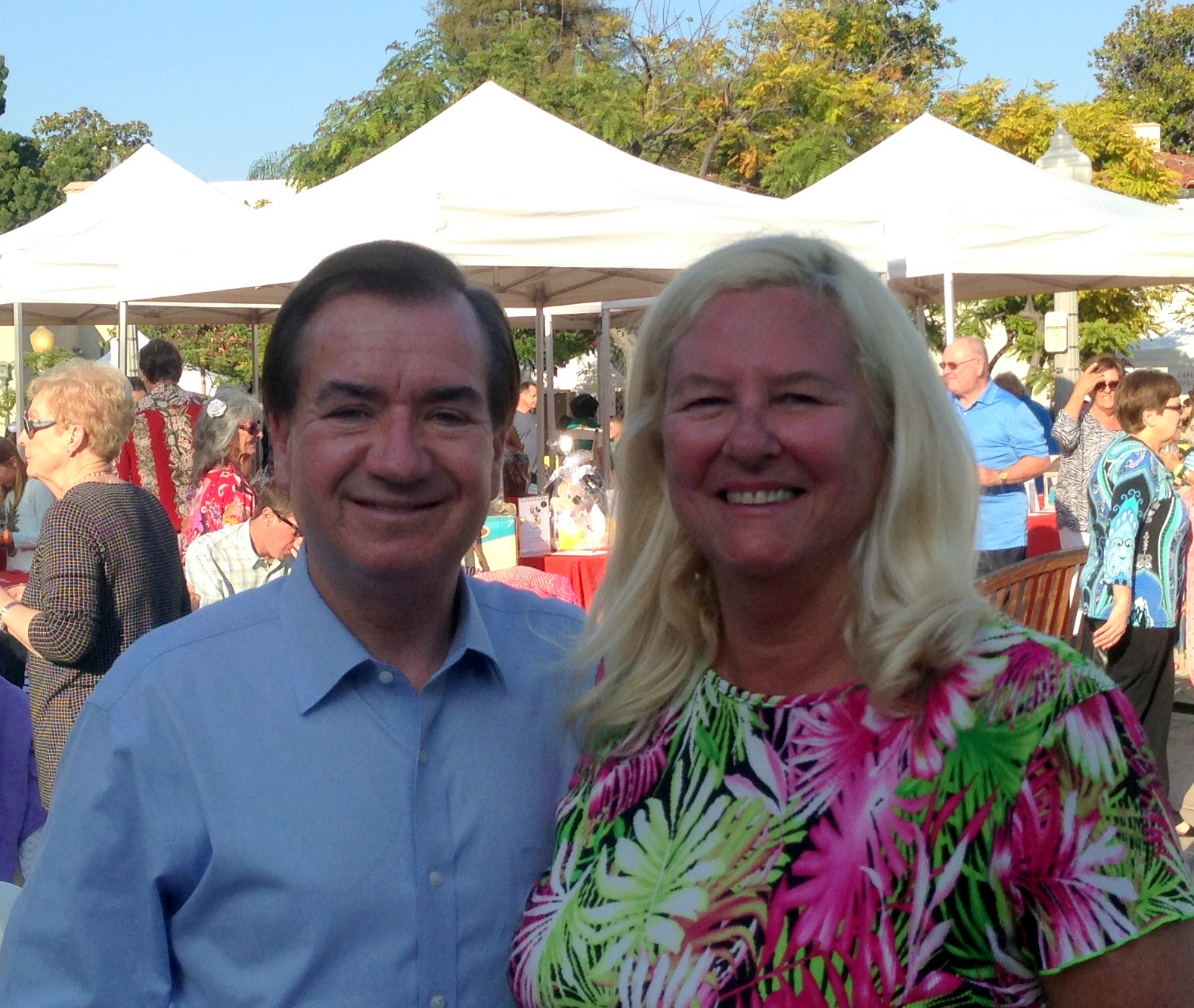 Karen Hathaway with congressman Ed Royce