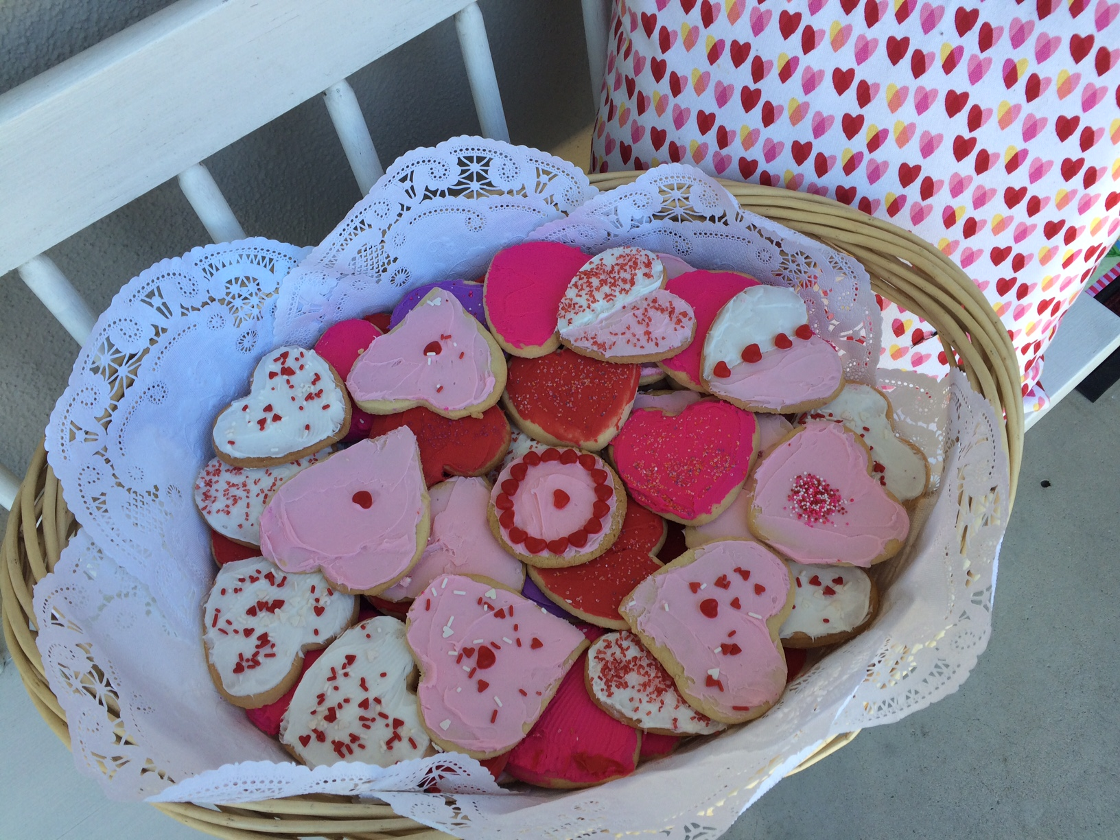 Valentine Cookies baked for Women's Transitional Living Center and Teen Parenting Program