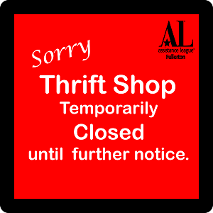 Thrift Shop Closed Until Further Notice