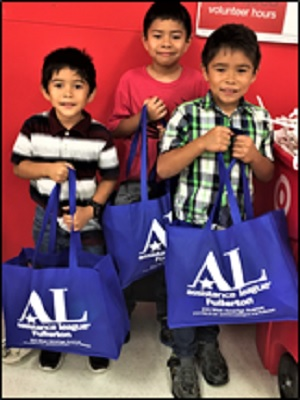 Children With Target Bags
