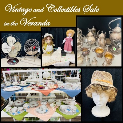 Vintage and Collectibles in the Veranda