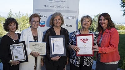 Fullerton Quality of Life Award from Chamber of Commerce