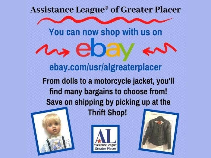 Visit Our New Ebay Store Assistance League Of Greater Placer