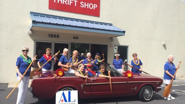 Member volunteers at the Thrift Shop