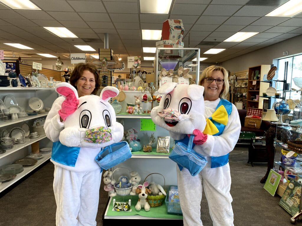 Thrift Shop Easter Bunnies