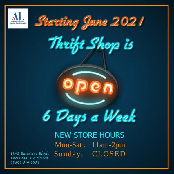 ALRSD Thrift Shop Hours