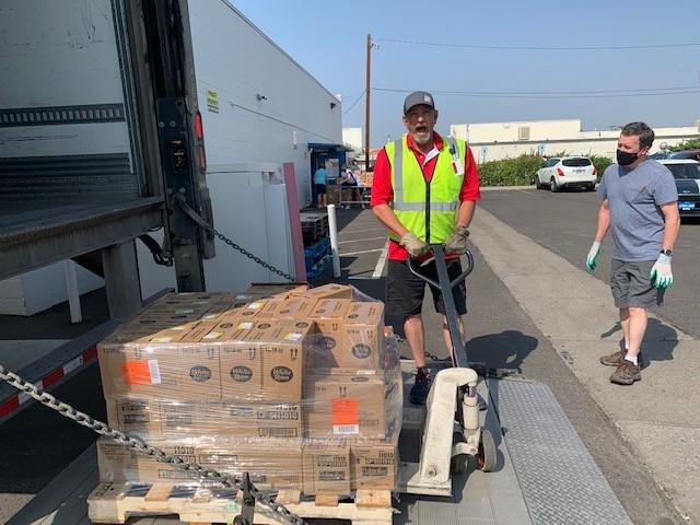 Bob unloading Essentials Kit items