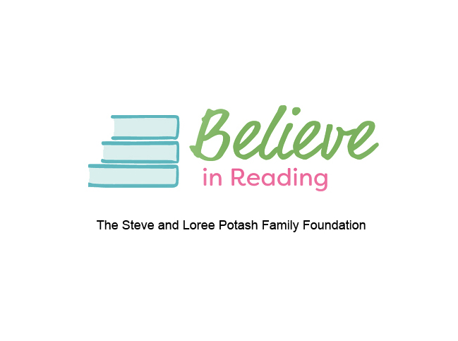 Believe in Reading logo - Potash Family Foundation