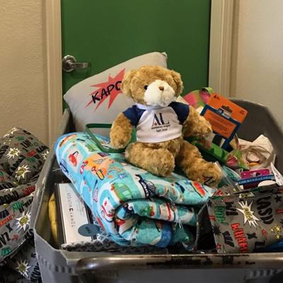 Hug-a-Bear Delivered to Family Supportive Housing