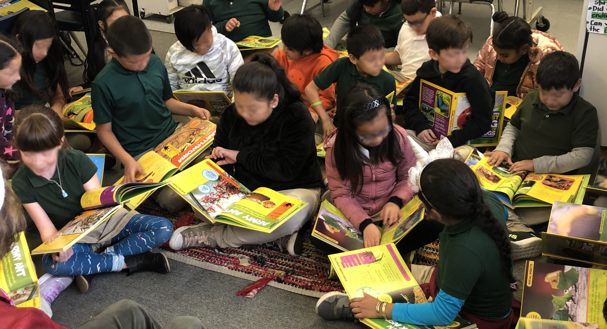 Lyndale Students with Big Book Gift