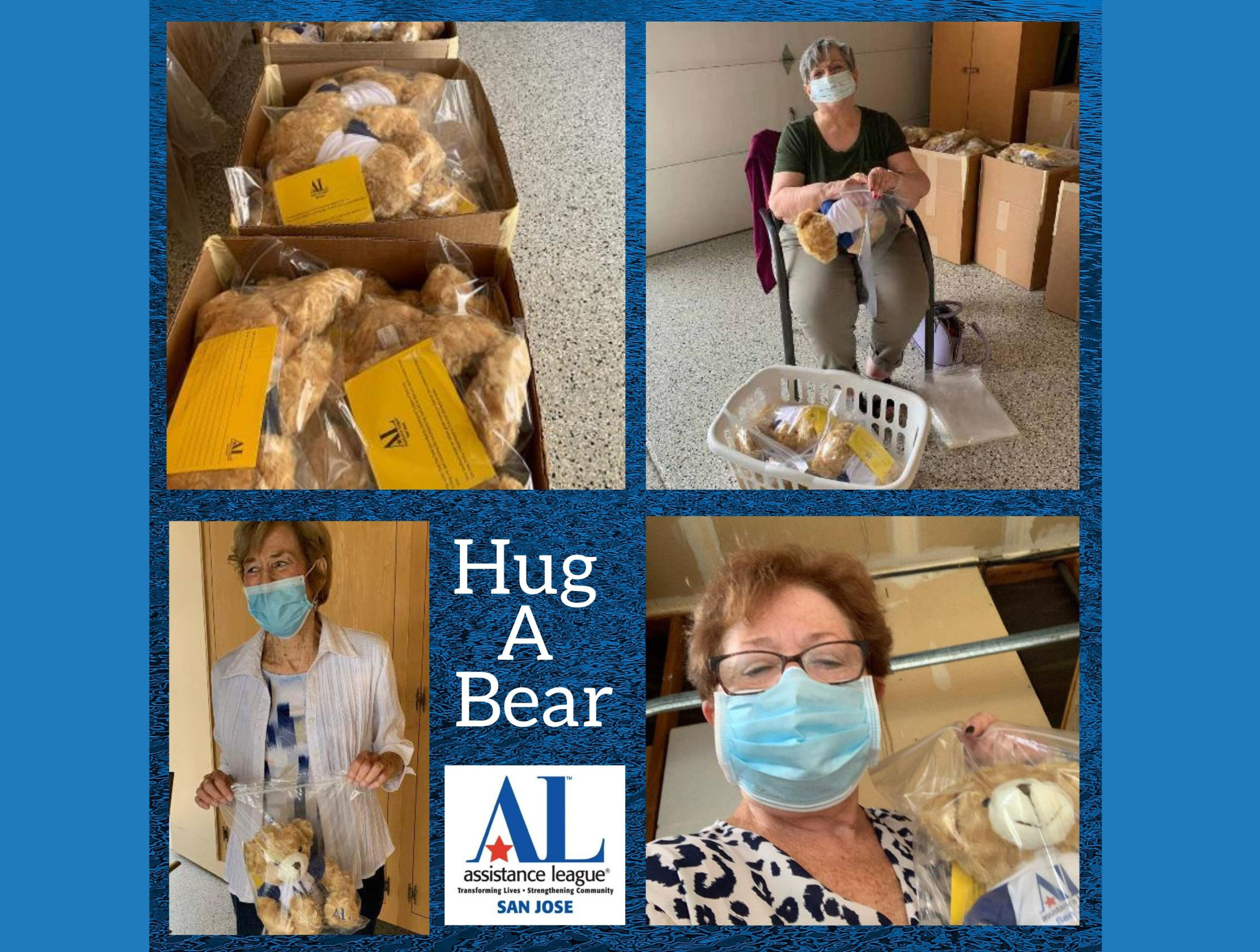 Hug-a-Bear volunteers packing for a delivery