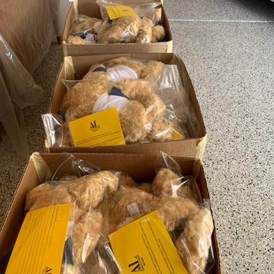 Hug-a-Bears Packaged for Deliveries