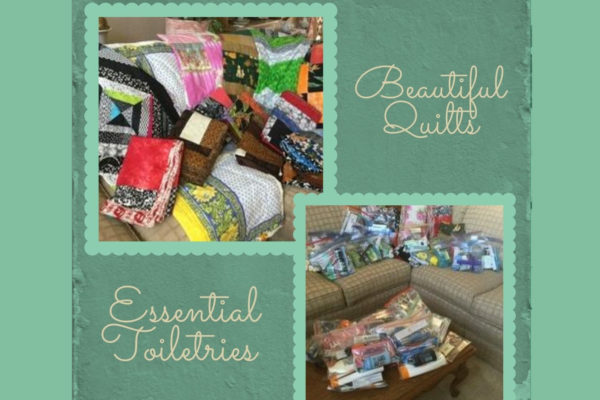 Quilts and toiletries for CityTeam