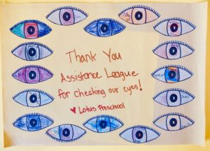 Thank You poster from Lotus School
