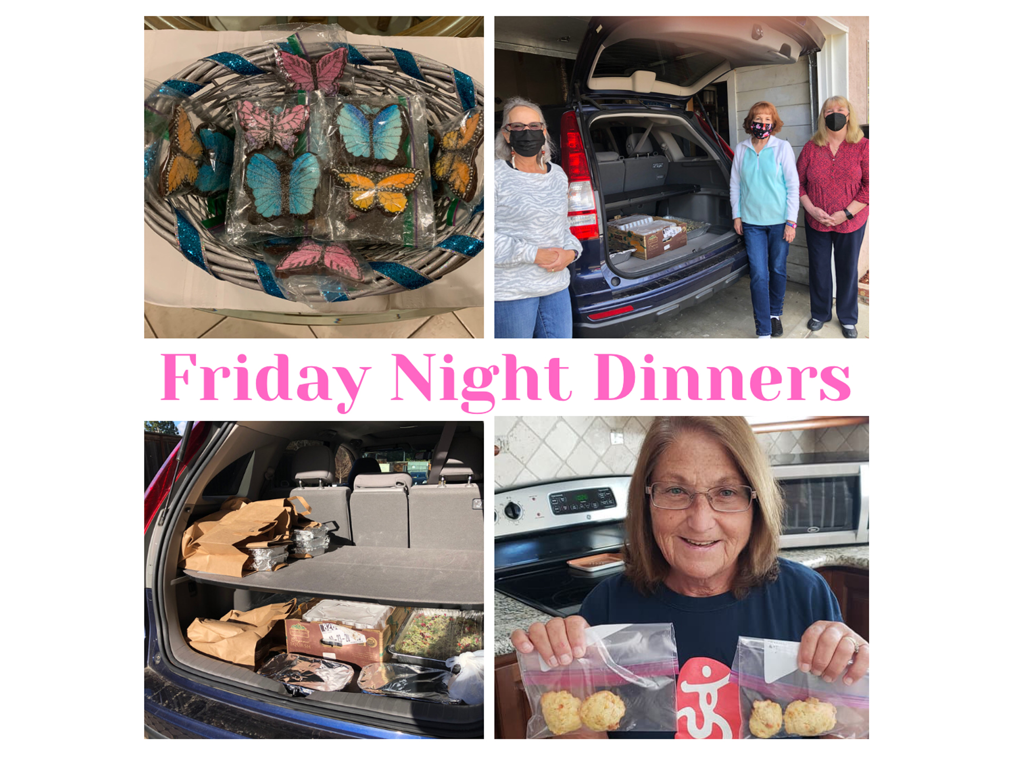 Delivering cookies and dinner to Family Supportive Housing