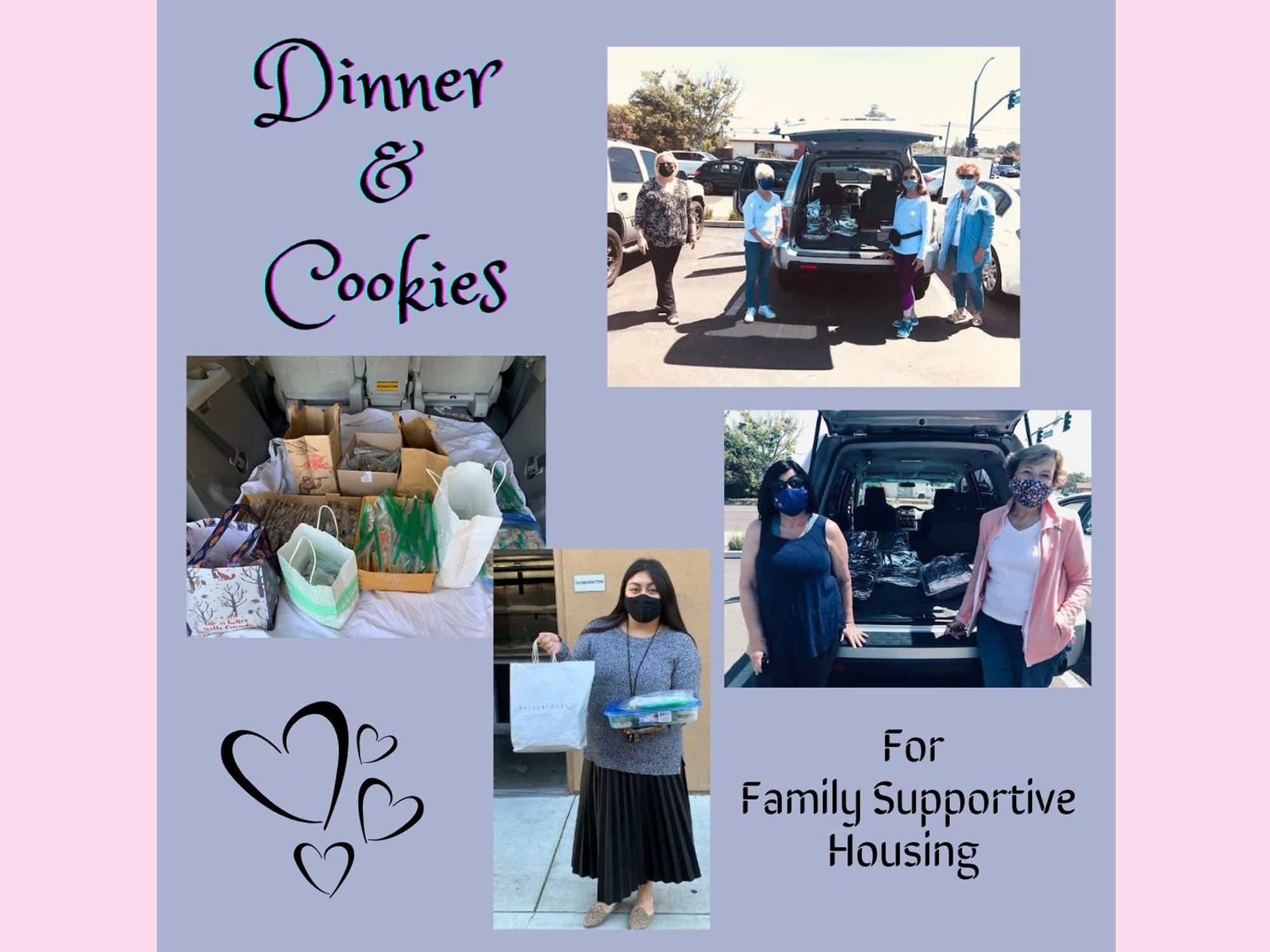 Dinner and Cookies for Family Supportive Housing
