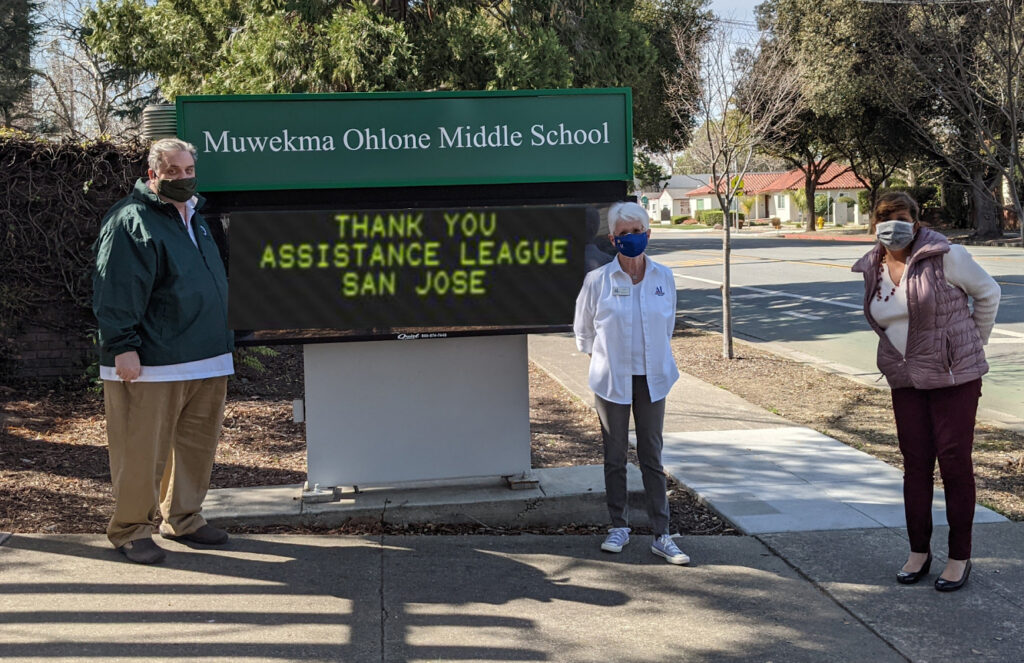 Thank You for ALSJ and Barnes & Noble Book Donations to Ohlone Middle School